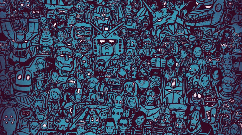 Just a snippet of the massive robot poster.