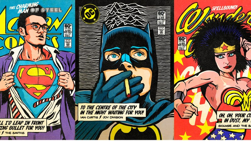 Illustration for article titled Post-Punk/New Wave Icons as Super Heroes