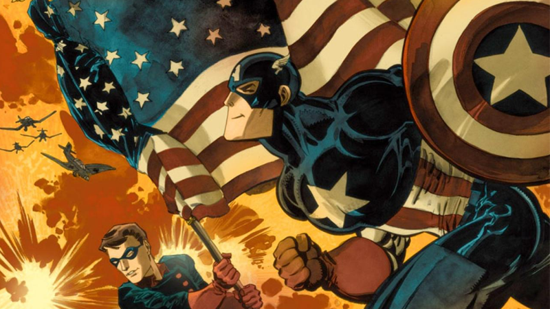 The original cover for Captain America: White #1, by Tim Sale.