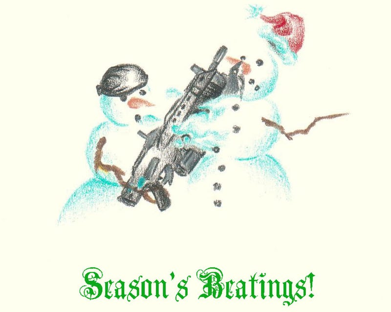Illustration for article titled Gears Of War: The Unofficial Christmas Card