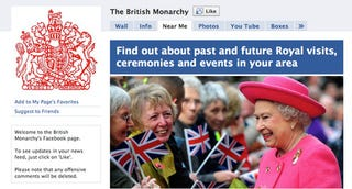 Illustration for article titled Queen's Facebook Page Reveals Weakness In The Monarchy