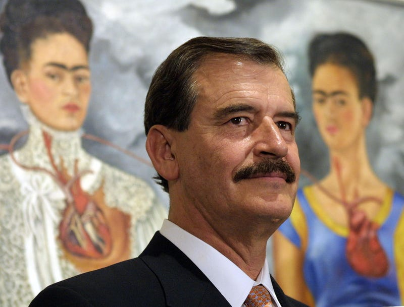 Vicente Fox Quesada in Rome in 2001GABRIEL BOUYS/AFP/Getty Images