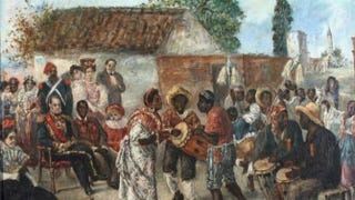 """Candombe federal,"" painting by Martín Boneo, 1836Museo Histórico Nacional, Buenos Aires, Argentina"