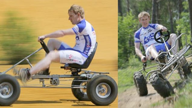 Trailcart World S First Pedal Powered 4wd Off Road Vehicle