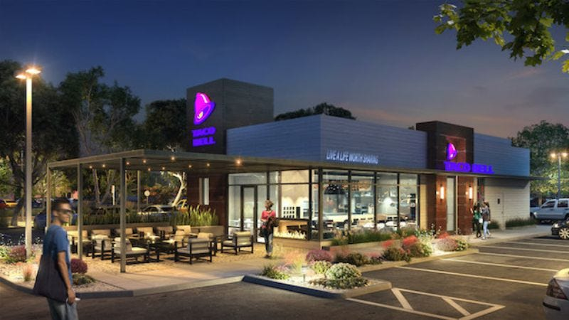 A computer rendering of one of the new Taco Bell looks (credit: Buzzfeed News)