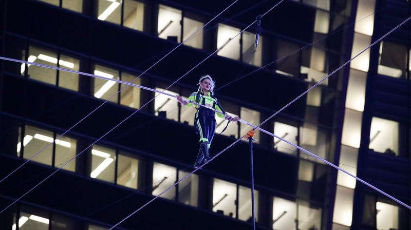 I Highly Disapprove Of This Terrifying, Foolhardy Tightrope Stunt That I Definitely Watched