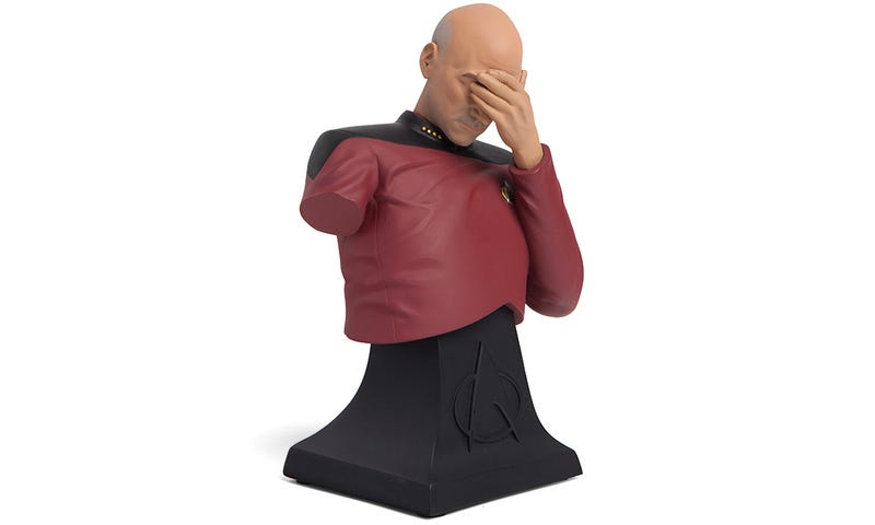 Illustration for article titled Losing an Arm Really Gives This Captain Picard Bust Something to Facepalm About