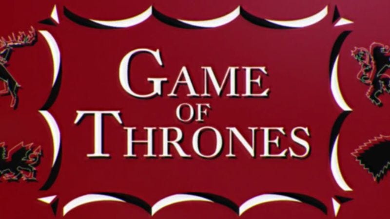 Illustration for article titled It's midcentury medieval when Saul Bass meets Game Of Thrones