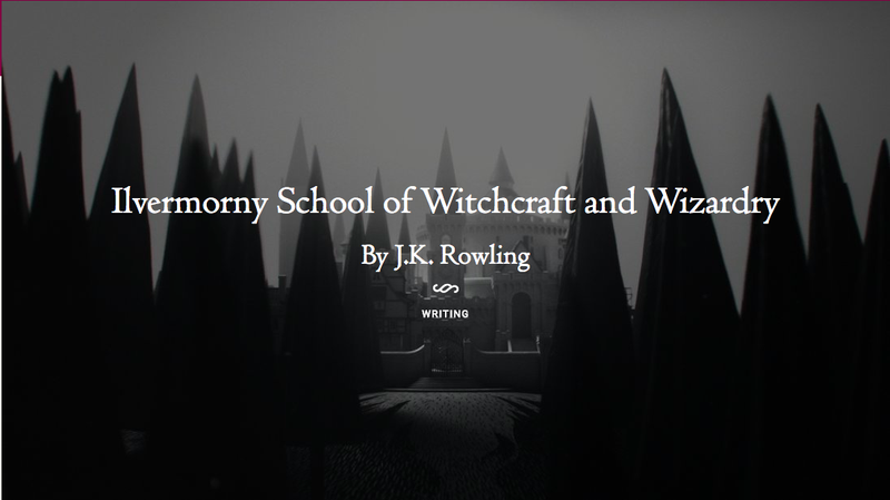 Today JK Rowling Released What Is Definitely Her Best Work Of The Recent Spate Stories Related Wizarding World United States