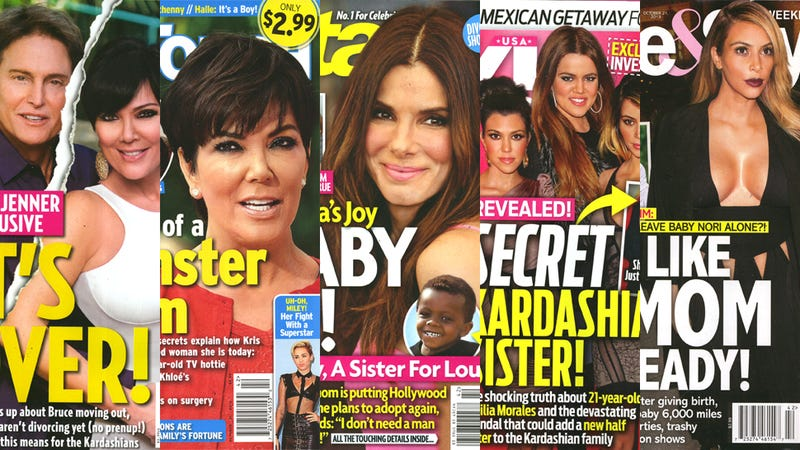 Illustration for article titled This Week in Tabloids: The Mom-Shaming of Kim Kardashian Has Begun