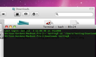 Illustration for article titled OpenTerminal Automatically Changes the Terminal Directory to the Current Finder Folder in OS X