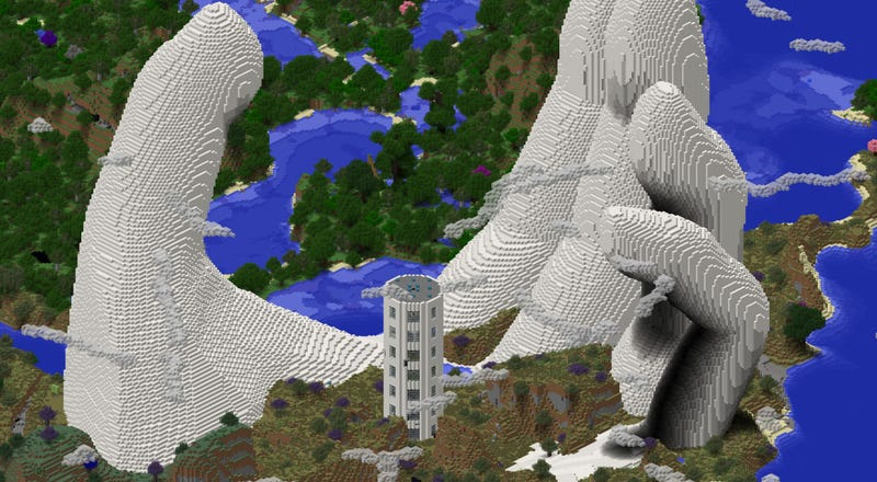 Enormous Minecraft Art Is Reaching For The Heavens