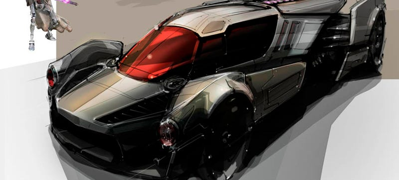 Illustration for article titled These Rejected Star Wars Toy Car Designs Are Incredible