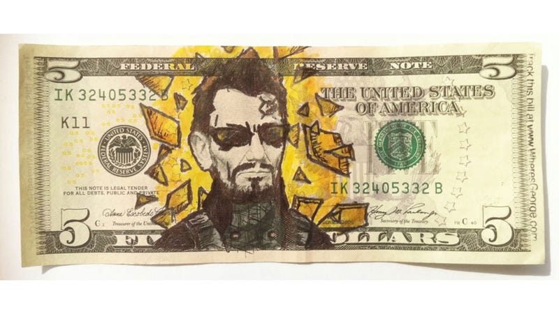Illustration for article titled Turning Dollar Bills Into Works of Video Game Art