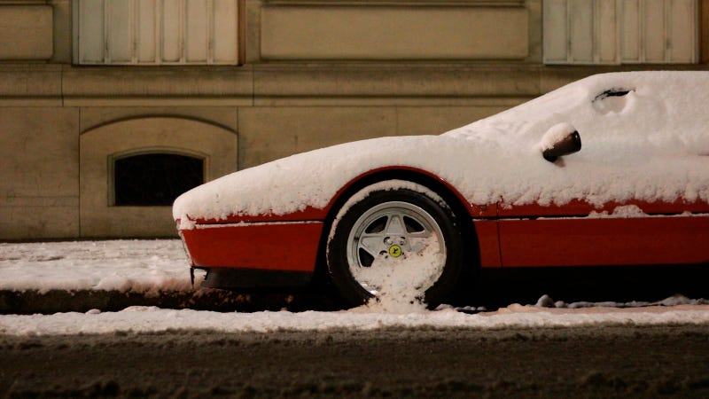 Illustration for article titled A Ferrari In The Snow