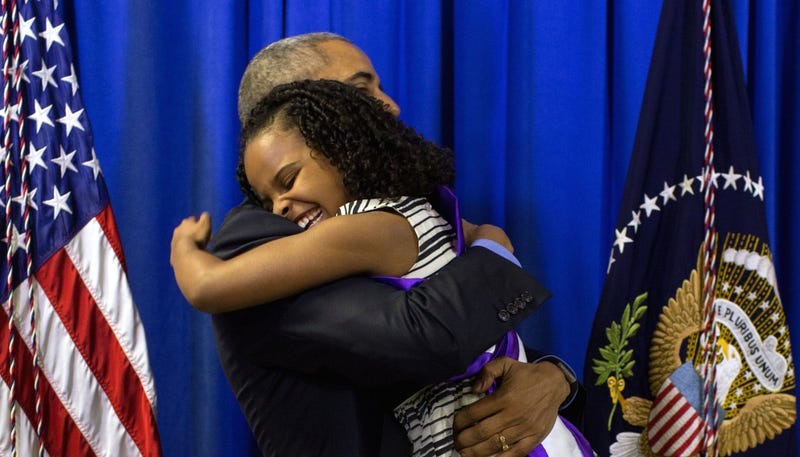 Illustration for article titled Hi, My Heart Has Exploded Watching This Video of President Obama Meeting Little Miss Flint