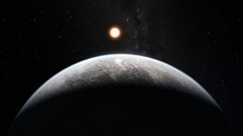 Artist's impression of an Earth-like exoplanet.
