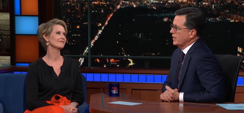 Cynthia Nixon, Stephen Colbert
