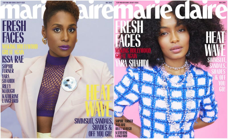 Illustration for article titled Fresh Faces: Issa Rae and Yara Shahidi Cover Marie Claire's May Issue