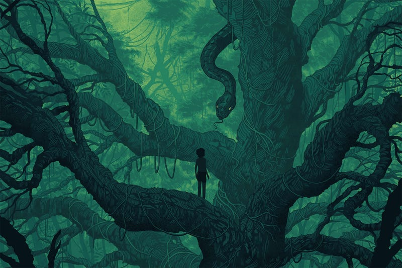 Illustration for article titled This Jungle Book Poster Is Just as Lush as the Movie