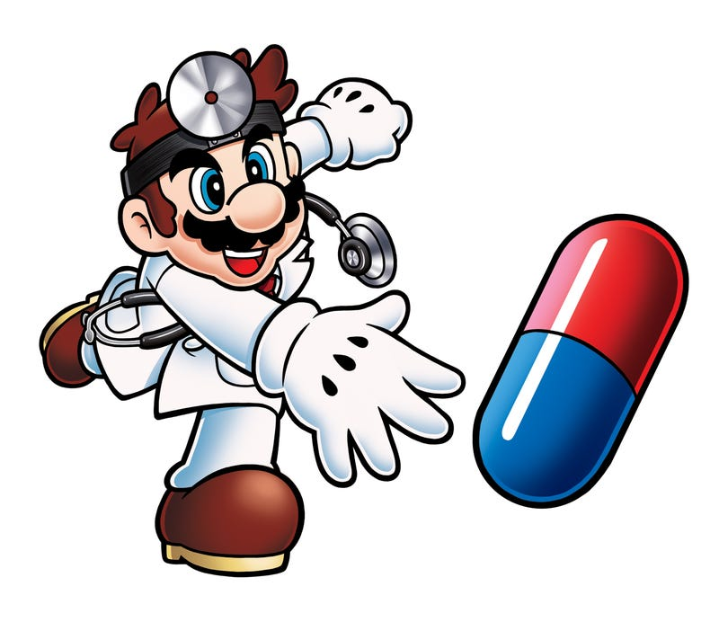 Illustration for article titled Mario Recommends an Aggressive Medication Regime For You