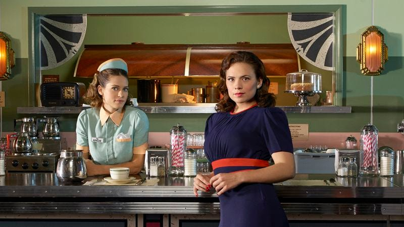 Angie Martinelli and Peggy Carter, a.k.a. Cartinelli