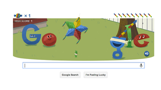 Illustration for article titled Google's Piñata-Bashing Birthday Doodle: A Perfect Friday Time-Waster