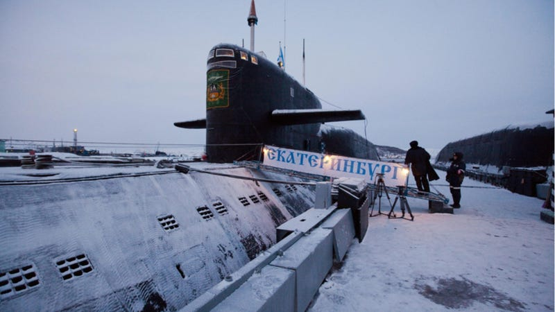 The Russian Delta IV-class submarine Yekaterinburg, photographed in 2010. Photo credit: AP