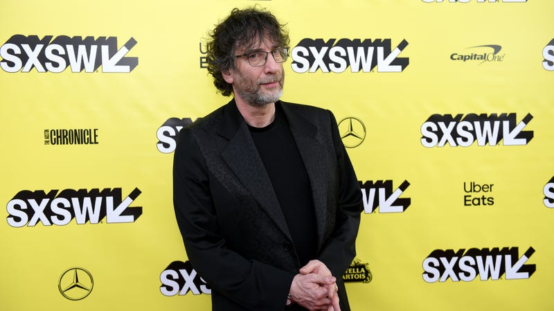 Neil Gaiman in Austin to promote Good Omens at SXSW 2019.