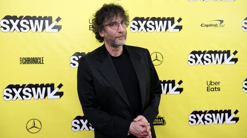 Neil Gaiman in Austin to promote Good Omens at SXSW 2019.