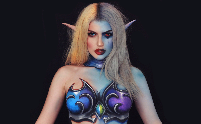 Illustration for article titled Twitch Streamer Explains Why Painting Her Body On Camera Isn't Sexual