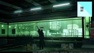 Illustration for article titled One Last Look at Deus Ex's Brilliant Concept Art