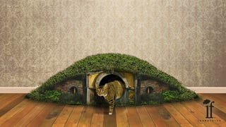 """Illustration for article titled The """"Hobbit Hole Litter Box"""" is even more beautiful than we imagined"""