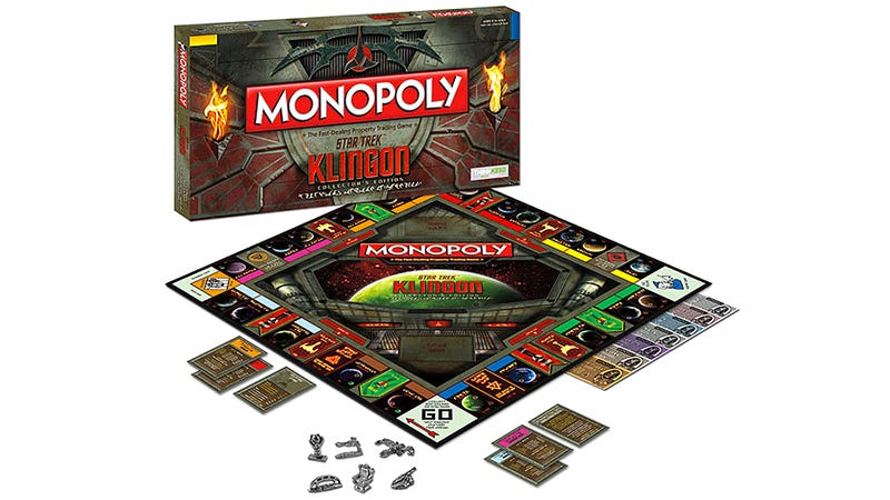 Illustration for article titled You Can Play This Bilingual Star Trek Monopoly Game in Either English or Klingon
