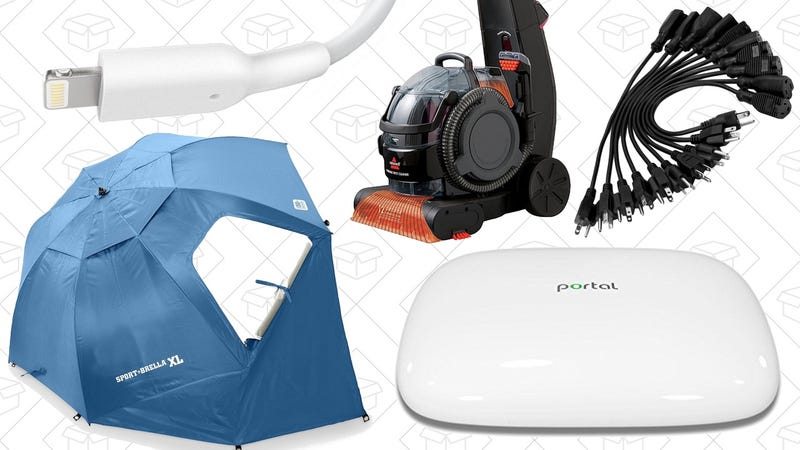 Illustration for article titled Today's Best Deals: Portal Router, Carpet Cleaner, Sport-Brella XL, and More