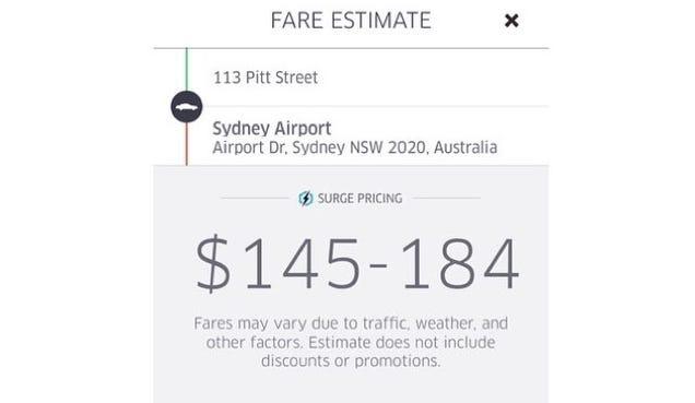 Uber Turned on Surge Pricing for People Fleeing Sydney Hostage Scene