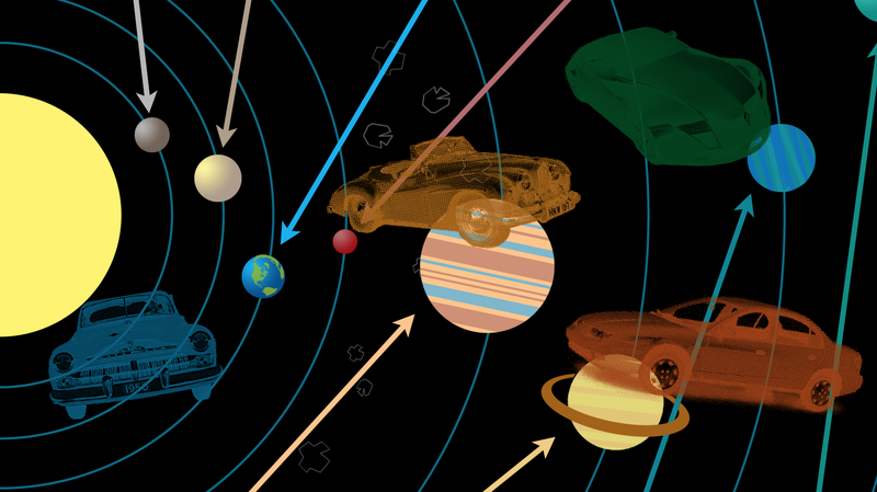 Illustration for article titled These Are The Cars Of The Solar System