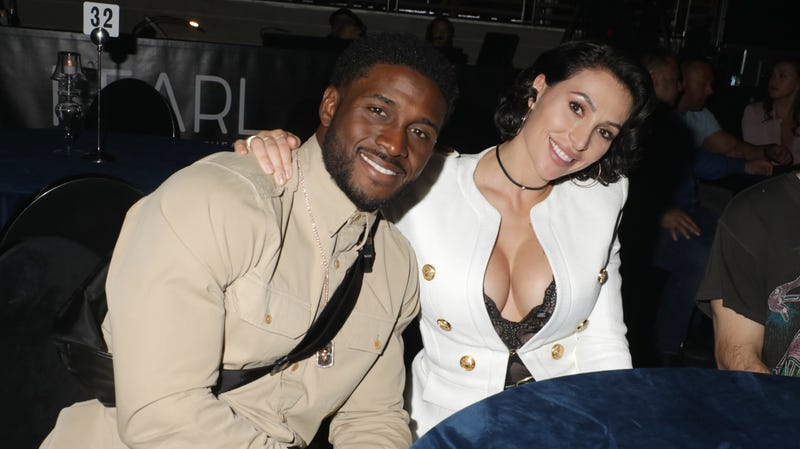 Reggie Bush and Lilit Avagyan attend the 'Intimate Evening With Alicia Keys At Pearl Concert Theater For Palms Casino Resort And KAOS' Grand Opening Weekend' event on April 5, 2019 in Las Vegas, Nevada.
