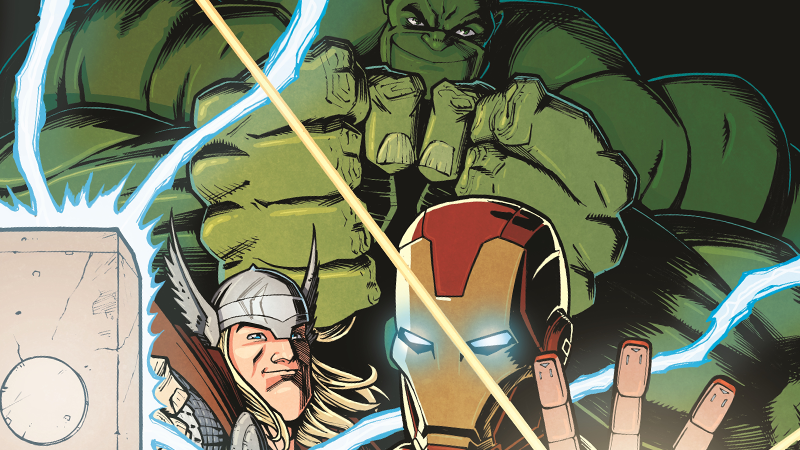 Image: Marvel Comics/Comixology. Avengers: Back to Basics #1 cover art by Nick Roche and Chris O'Halloran