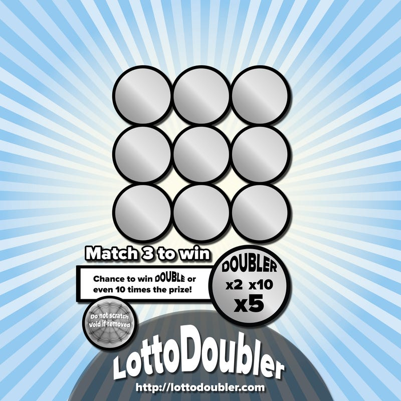 Illustration for article titled Suddenly.. | Lottodoubler instant lottery
