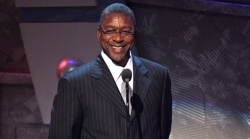 President and founder of BET Bob Johnson speaks onstage at the BET Awards '05 at the Kodak Theatre on June 28, 2005 in Hollywood, California.
