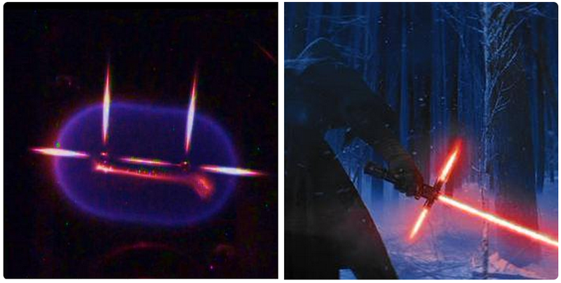 Illustration for article titled This NASA Experiment Looks Just Like Episode VII's New Lightsaber