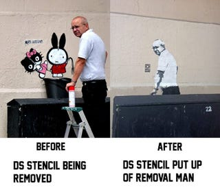 Illustration for article titled Street art removal man