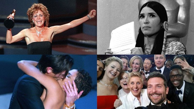 Illustration for article titled How Many Of These Classic Oscar Moments Do You Remember?