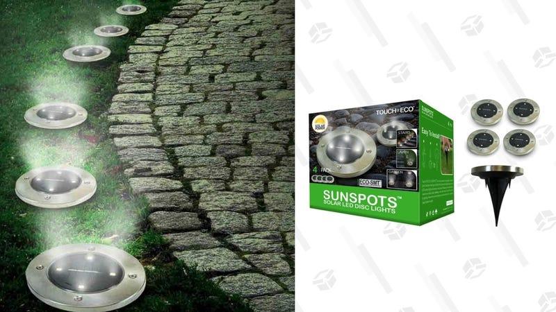 Sunspots Outdoor Disk LED Light, Packs of 4, 8, 16 | $18, $32, $56 | Daily Steals | Promo code KINJALED