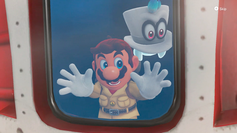 Illustration for article titled Super Mario Odyssey's Not-Quite-Optional Motion Controls Are Aggravating In Handheld Mode