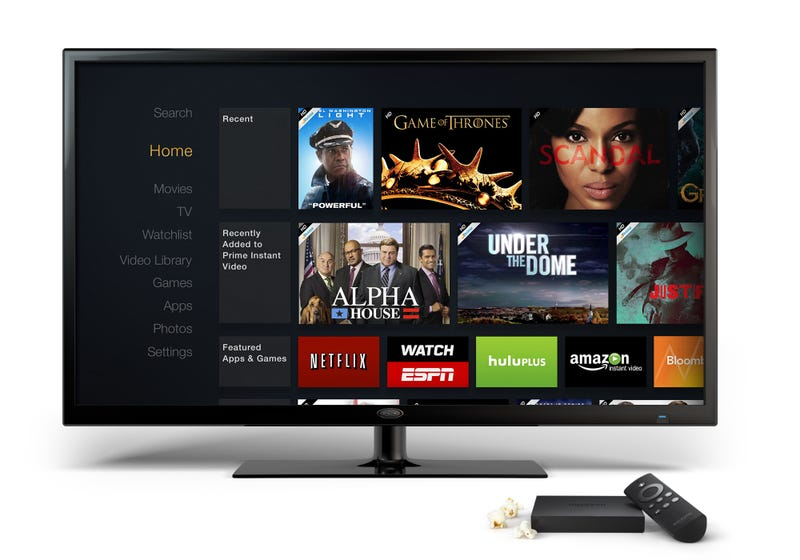 Illustration for article titled Meet Amazon Fire TV, A Video-Streaming Android Gaming Mini-Console