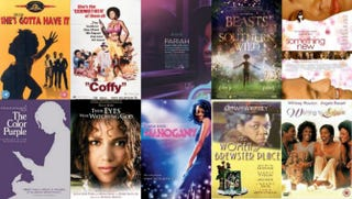 top row (L-R): She's Gotta Have It; Coffy: Pariah; Beasts of the Southern Wild; Something New; bottom row (L-R): The Color Purple; Their Eyes Were Watching God; Mahogany; The Women of Brewster Place; Waiting to Exhale.IMDB