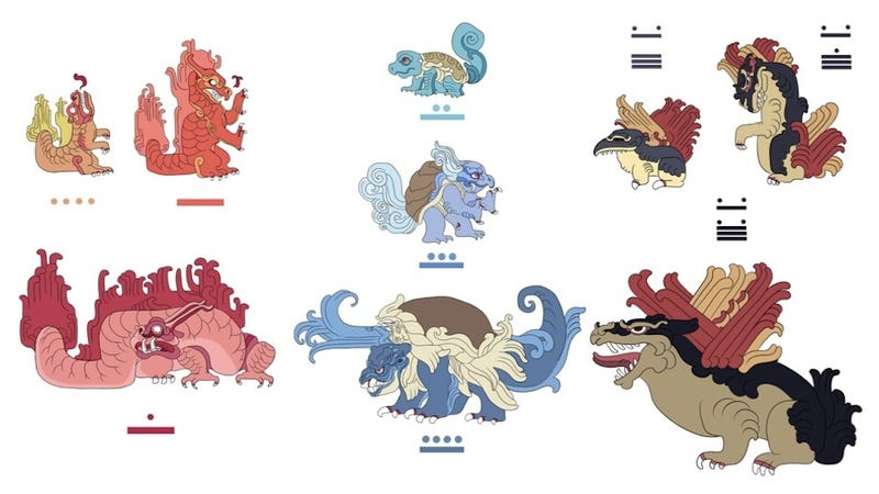 Illustration for article titled Pokémayans: Pokémon Redesigned as Mayan Monsters