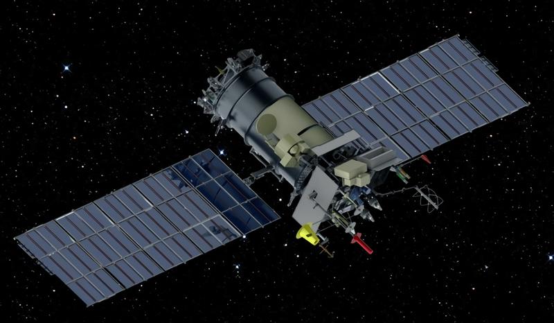 Diseño de un satélite ruso.